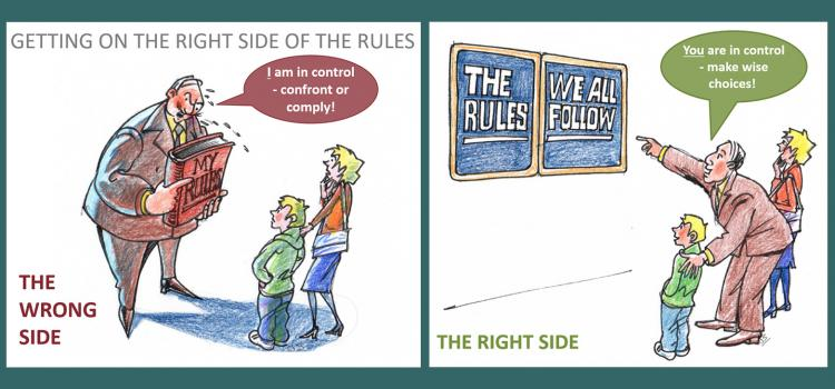 wrong way - confront me or comply. right way - let me help you make wise choices